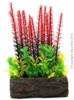 Planter Planter Box Square Mixed Red/Gre