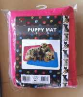 puppy mat 70 x 60 blue